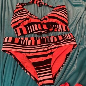 •Jag• Striped Swimsuit